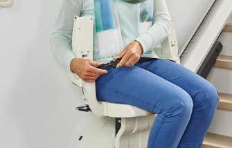 Levant stairlift comes with an retractable seat belt